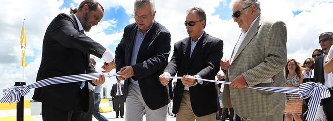 El Muelle C, inaugurado ayer, incrementará 12% la capacidad de atraque en el Puerto de Montevideo