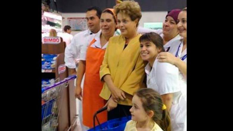 Dilma Rousseff auguró relaciones más profundas entre Brasil y Uruguay, y fue de compras a un supermercado de Malvín