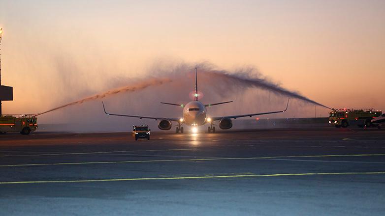 En un vuelo cargado de esperanzas y expectativas, llegó a Uruguay el primer avión de Alas Uruguay