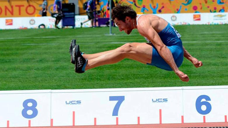Emiliano Lasa medalla de bronce en salto largo de los Panamericanos 2015