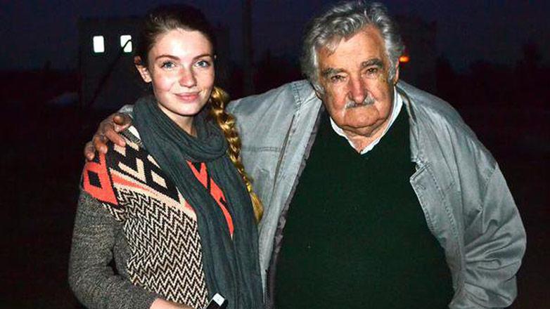 Una universitaria estadounidense cruzó el continente para conocer a José Mujica