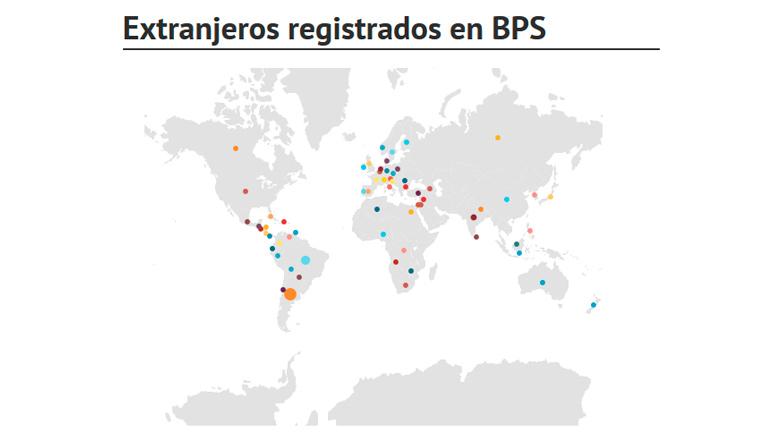 Extranjeros de 65 países son empleados en Uruguay
