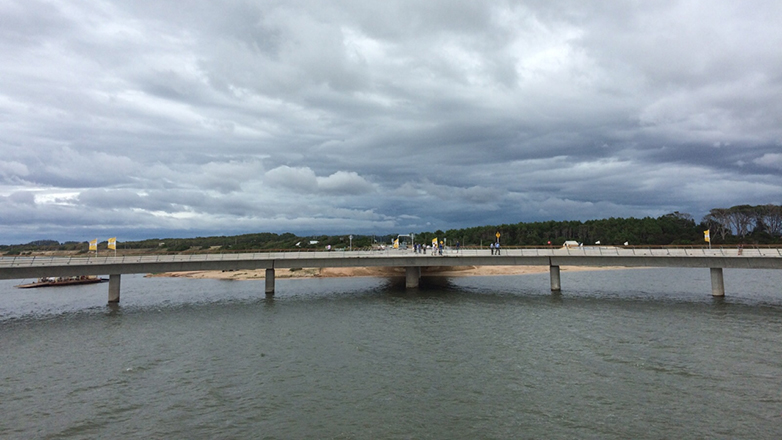 Maldonado y Rocha conectados: quedó inaugurado el puente sobre la Laguna Garzón