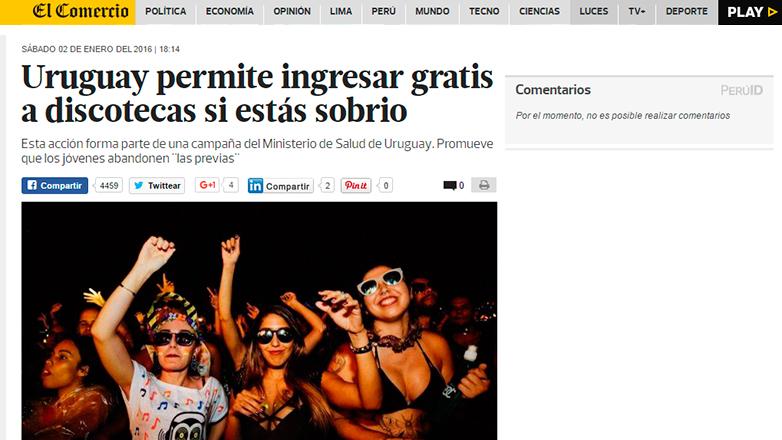 La campaña Free Pass, ideada por Salud Pública de Uruguay, es aceptada por los jóvenes y elogiada desde el exterior
