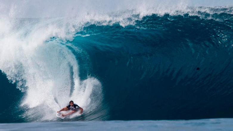 Dos surfistas de Rocha cumplieron el sueño de competir en el BWWT Big Wave World Tour
