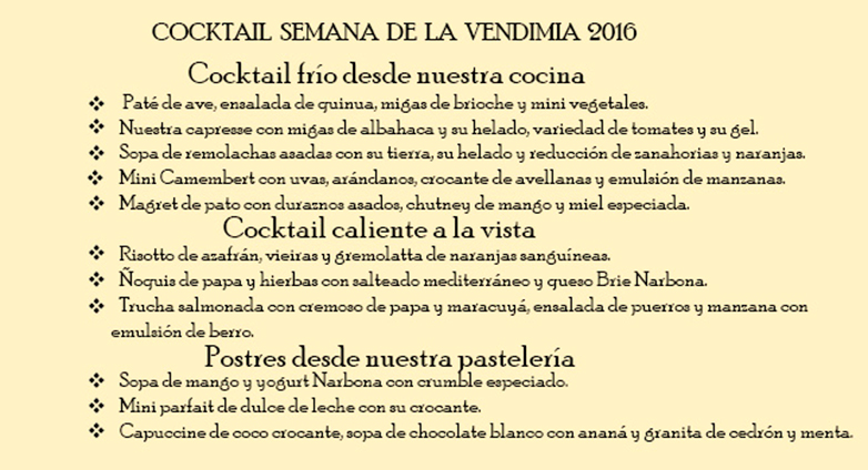 Vendimia Gourmet en Carmelo con vinos Narbona