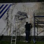 Artista urbano portugués deja su huella en Punta del Este