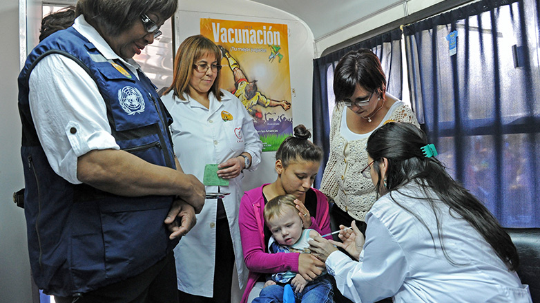Organización Panamericana de la Salud reconoce campañas de vacunación en Uruguay