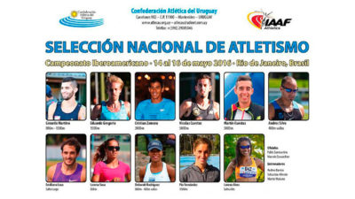 Crece la delegación de atletas uruguayos presentes en el Iberoamericano de Atletismo en Río
