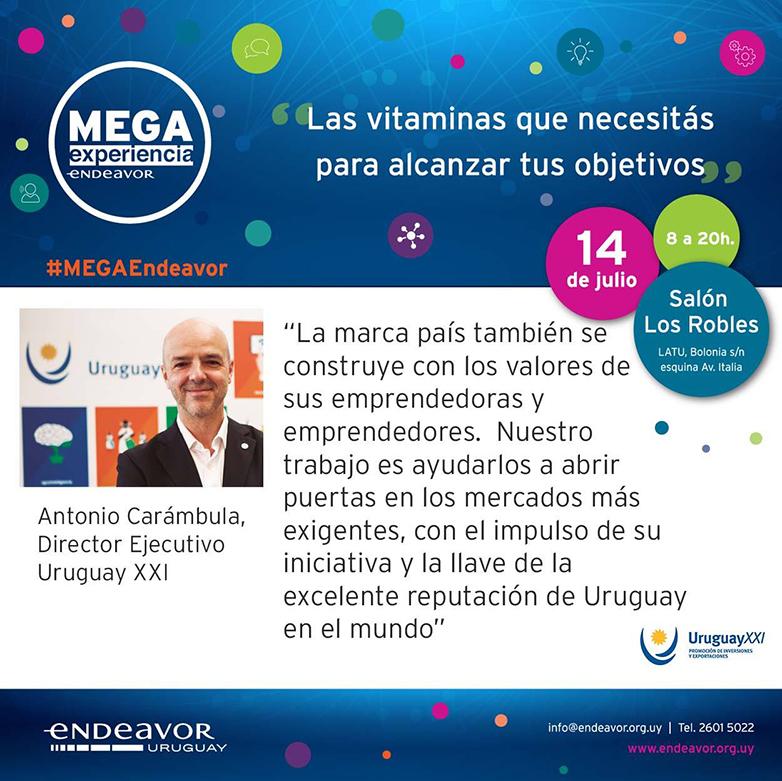 La marca Uruguay Natural apoya la cuarta edición de la MEGA Experiencia Endeavor