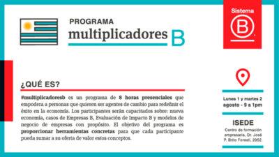Llega a Montevideo una nueva edición del programa Multiplicadores B