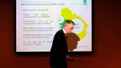 Nueva planta de celulosa en Uruguay será la más grande de UPM en el mundo