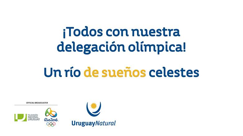 Alentando a los atletas olímpicos uruguayos en Río 2016