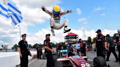 Santiago Urrutia y un gran fin de semana en Indy Lights