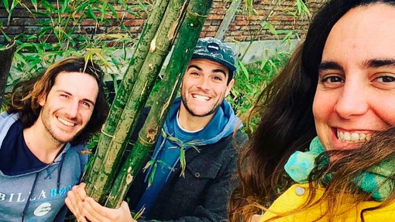Tres uruguayos promueven el bambú como recurso del futuro