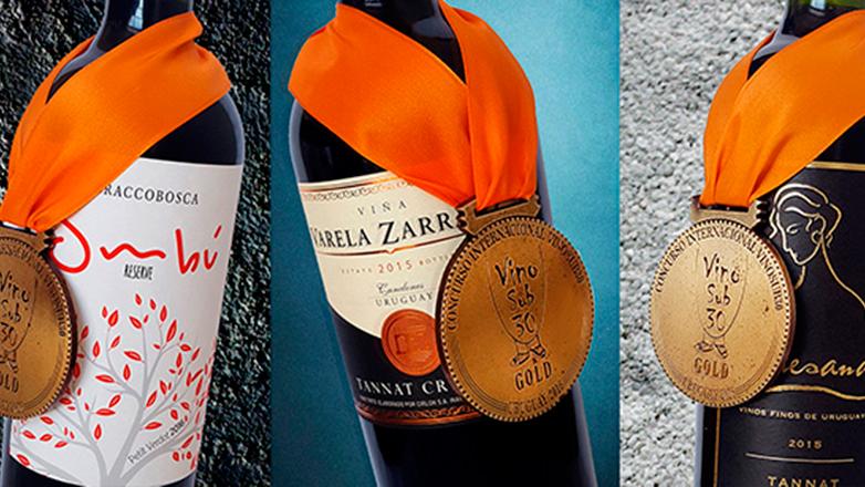 VinoSub30 Uruguay 2016 premió al vino nacional con tres medallas Gran Oro y 27 de Oro