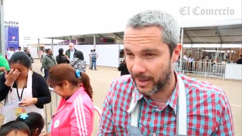 Cocinero Diego Ruete en Mistura