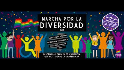 Marcha por la diversidad en Montevideo