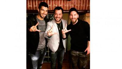 Suárez y Messi, encantados con Lucas Sugo