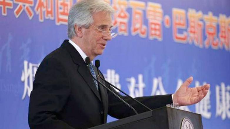 Tabaré Vázquez expuso en China la campaña contra el tabaquismo
