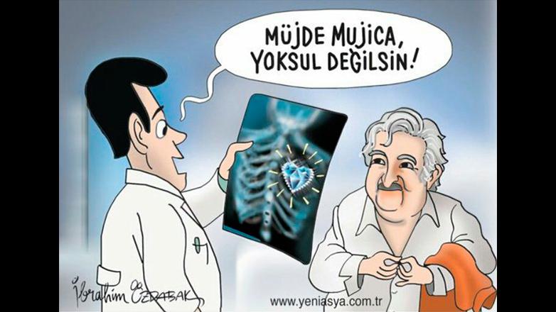 Mujica, un fenómeno en Turquía que llegó a las caricaturas de los diarios