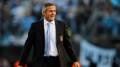 Oscar Tabárez Uruguay's national team manager achieves world record