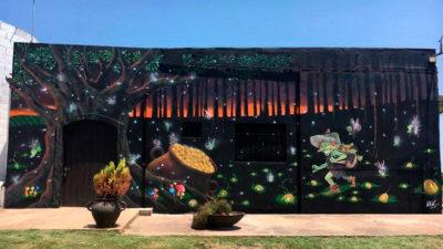Street art en bodega uruguaya