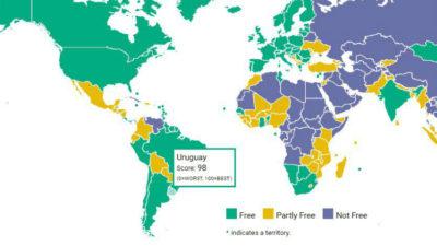 Uruguay entre los 10 países del mundo con mayor libertad