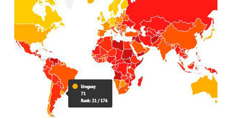 Uruguay, mejor país latinoamericano en el Índice de Percepción de Corrupción