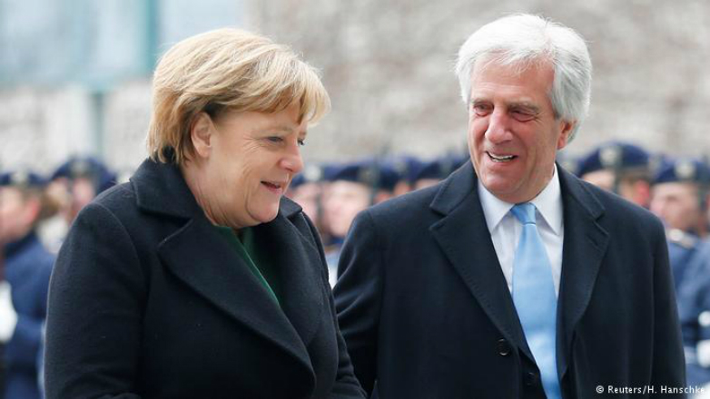 """Angela Merkel. """"Uruguay could be the engine towards the battle for free trade"""""""