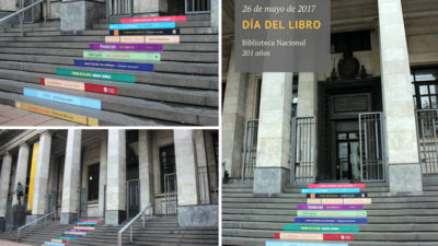 La Biblioteca Nacional celebró sus 201 años con intervención en su fachada