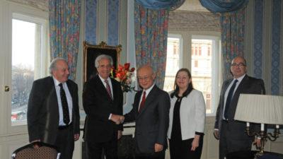 El presidente Tabaré Vázquez inició misión oficial por Austria, Egipto y Suiza