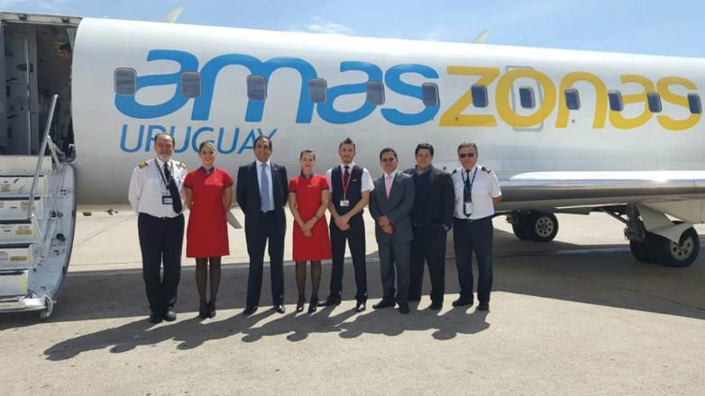 Aviones de Amaszonas llevarán la Marca País Uruguay Natural por el mundo