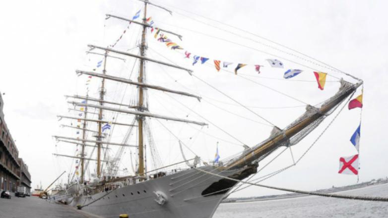 La Fragata Libertad arriba el sábado al puerto uruguayo