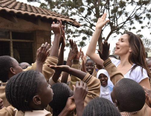 UNICEF compartió imágenes de la visita de su embajadora Natalia Oreiro a Kenia