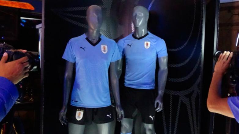 Esta es la camiseta con la que Uruguay jugará el Mundial