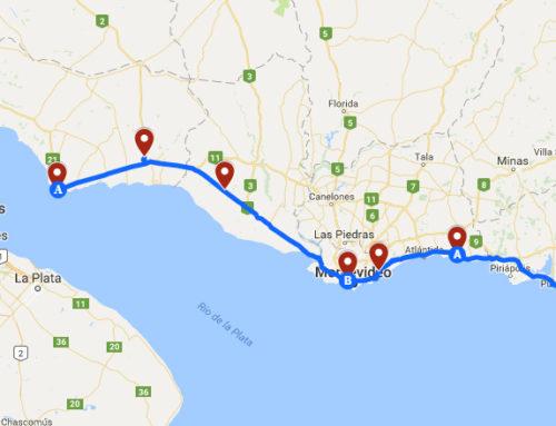 Ruta eléctrica entre Colonia y Punta del Este