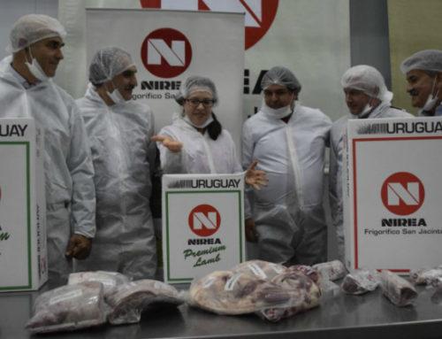 Entusiasmo y lluvia en el primer embarque de carne ovina a Estados Unidos