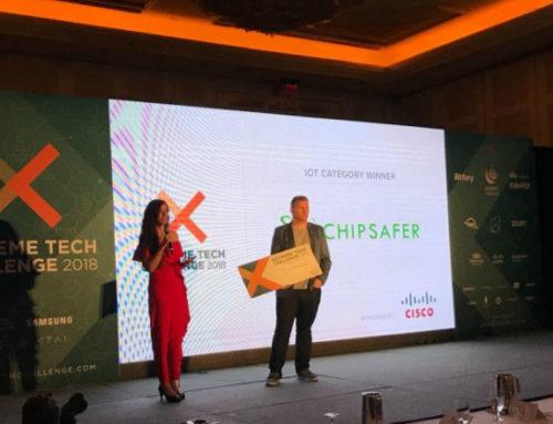 La uruguaya Chipsafer, empresa socia de marca país, ganó el Extreme Tech Challenge en las Vegas