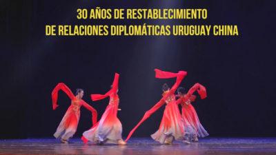 La cultura china inundó los palcos uruguayos para celebrar 30 años de relaciones