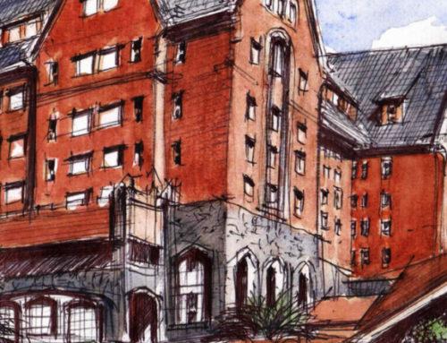 El hotel San Rafael fue captado por los croquiseros urbanos