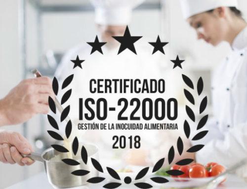 La calidad alimentaria de Culinaria certificada con norma internacional