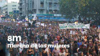 Miles de personas marcharon en Montevideo por los derechos de las mujeres