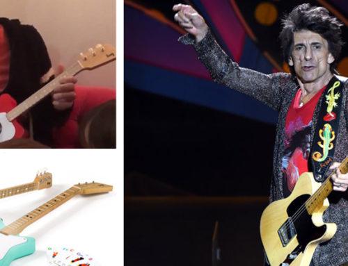 Ron Wood tocó para sus hijas la guitarra uruguaya Loog