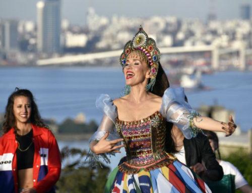Natalia Oreiro rodó el clip de su canción mundialista United by Love en el Cerro