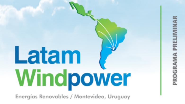 El IV Congreso Latinoamericano de Energía Eólica - Latam Wind Power, tendrá lugar en junio en Montevideo