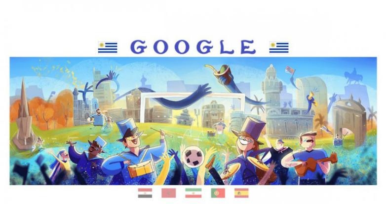 """La historia detrás del """"doodle"""" mundialista de Uruguay"""