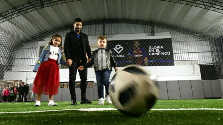Luis Suárez inauguró su propio complejo deportivo