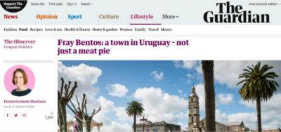 Crónica de viaje en el diario The Guardian de Inglaterra menciona a Carmelo y Fray Bentos
