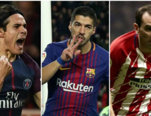 Godín, Cavani y Suárez siguen ubicándose en la elite mundial